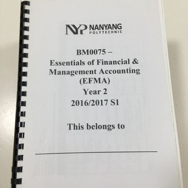 Nyp essentials of financial management accounting textbooks on photo photo photo fandeluxe Images
