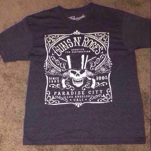 Orig. GUNS N' ROSES - Paradise City Label Shirt from US