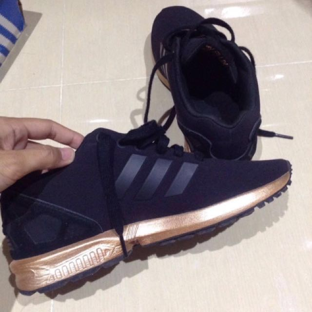 Original ADIDAS ZX FLUX COPPER GOLD 8c7b96688