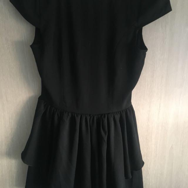 Passion fusion black capped shoulder play suit/jumpsuit size S