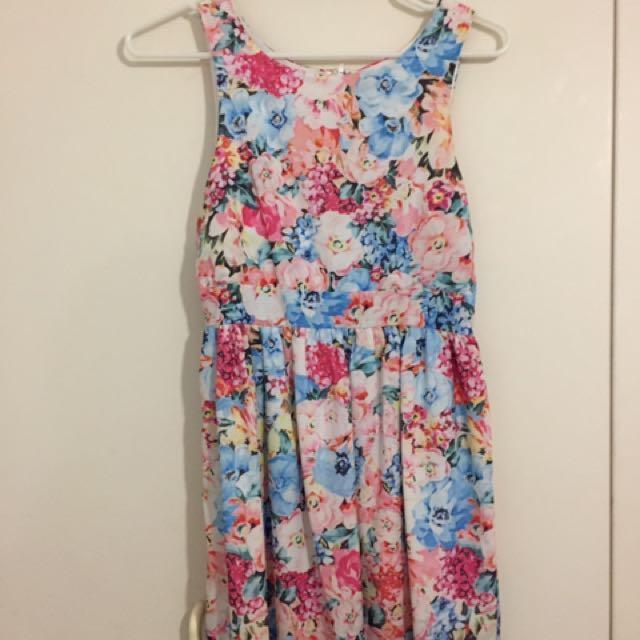 Patterned Summer A Line Dress