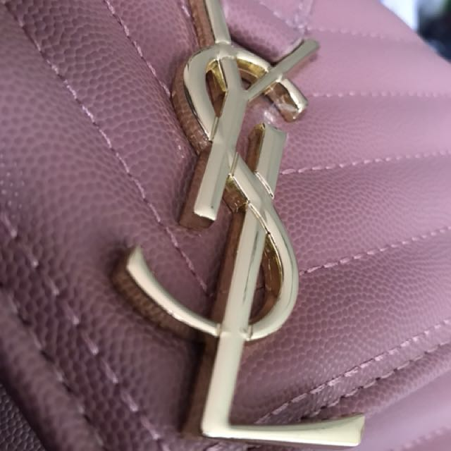 Pink YSL Envelope collection Saint Laurent Pink Large Monogram Envelope Chain Bag HIGH QUALITY FAKE