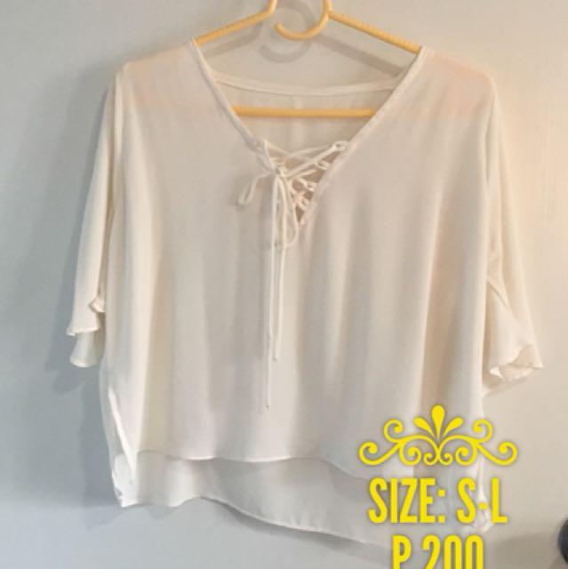 Pre-loved White Sheer Top