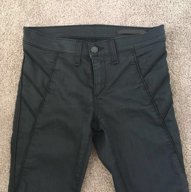 Rag and Bone Leather Look Jeans Sz 26