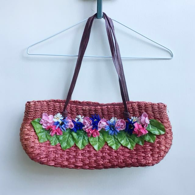 Red Bag with Floral Detail