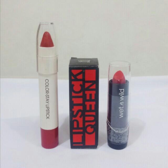 Red Lipstick Bundle (Lipstick Queen, Wet n Wild, Miniso)