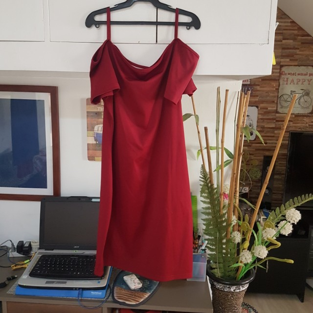Red little dress (free size)
