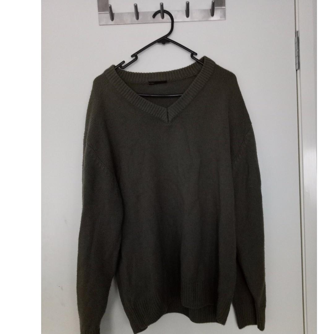 Retro Khaki/Olive Boyfriend Jumper Pullover