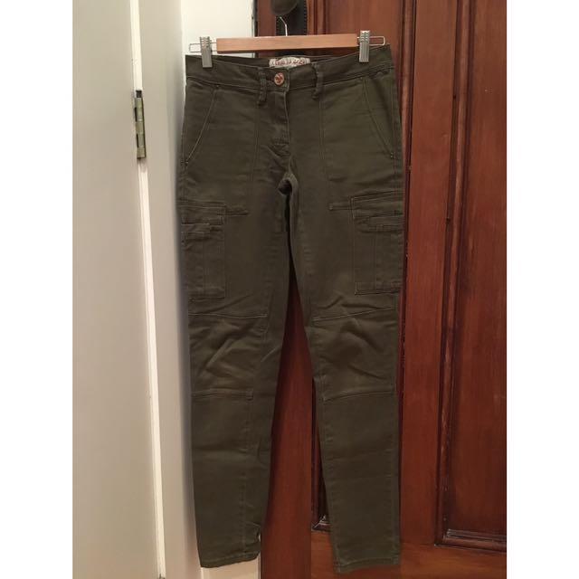 River Island Khaki Jeans/Pants
