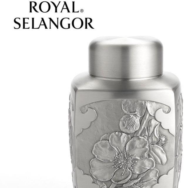 皇家雪蘭莪ROYAL SELANGOR四君子馬來西亞手工錫器-茶罐茶具