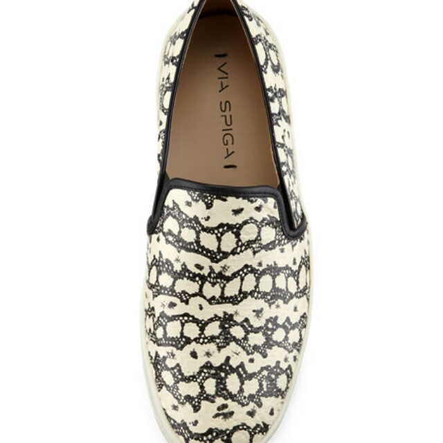 SALE!! Authentic Via Spiga Galea Snake-Embossed Sneakers