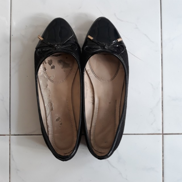Sepatu flatshoes fladeo hitam uk 38