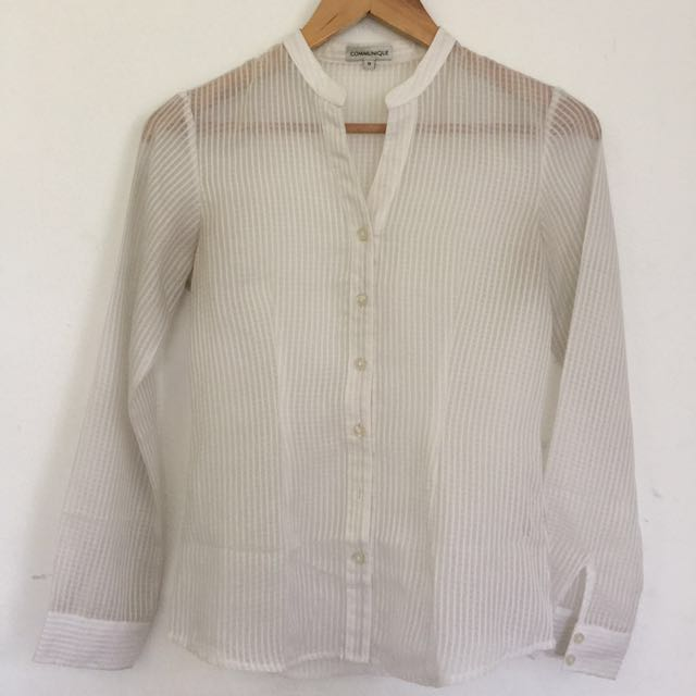 Sheer white shirt