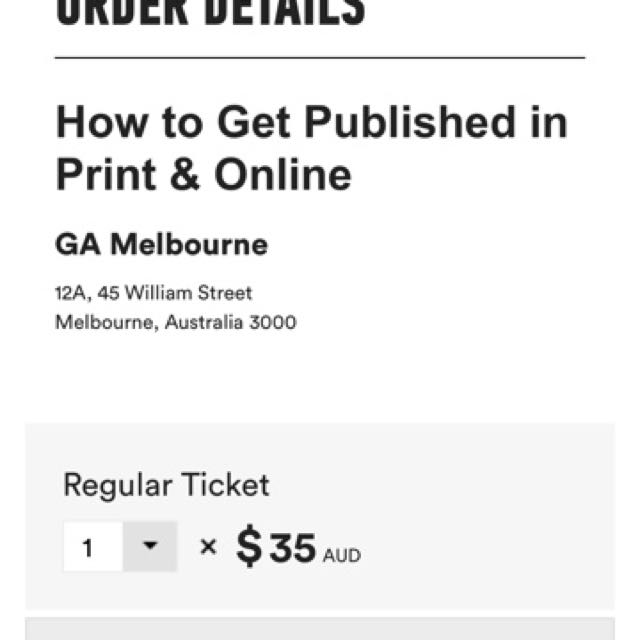 Sia Melbourne ticket AAMI Park 30-11-17