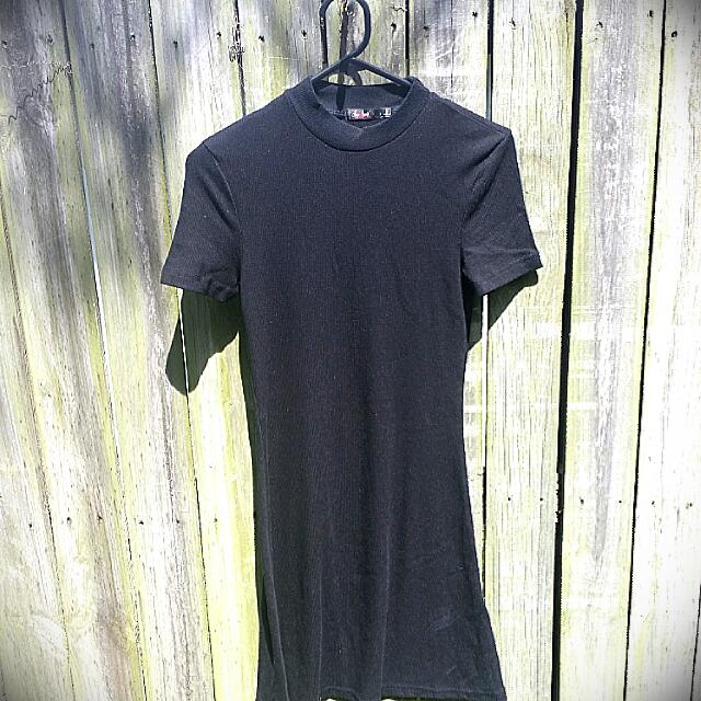 Simple Black Mini Dress