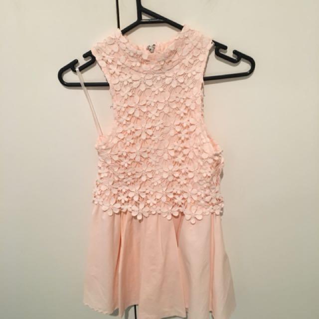 Size 6 Pink cocktail dresss