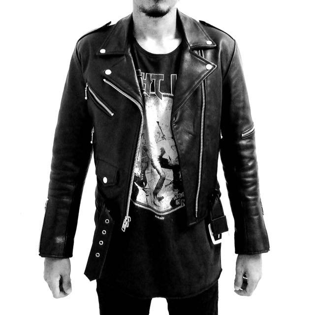 5666c0c26 Straight To Hell Commando Leather Jacket - Black with nickel hardware