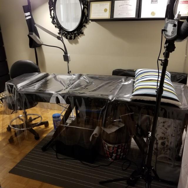 Tattoo Eyelash Massage Aesthetics Bed Table