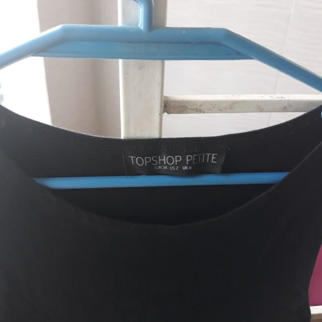 Topshop black sleeveless skater dress