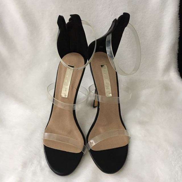 Transparent strap heel