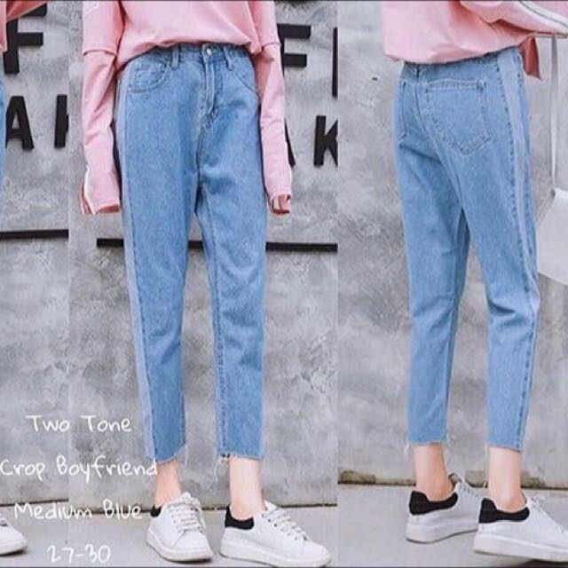 Two toned jeans acid