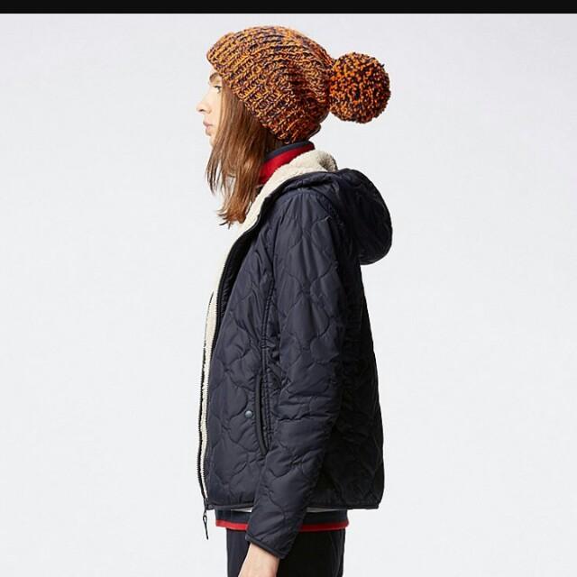Uniqulo 羽絨 內刷毛 外套 紅色