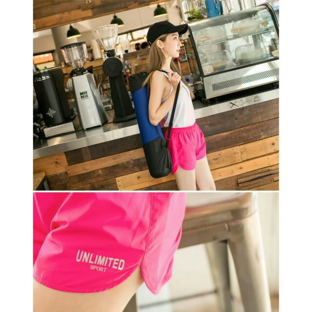 全新轉賣反光印字抗UV內襯網布運動短褲 OrangeBear   桃紅L