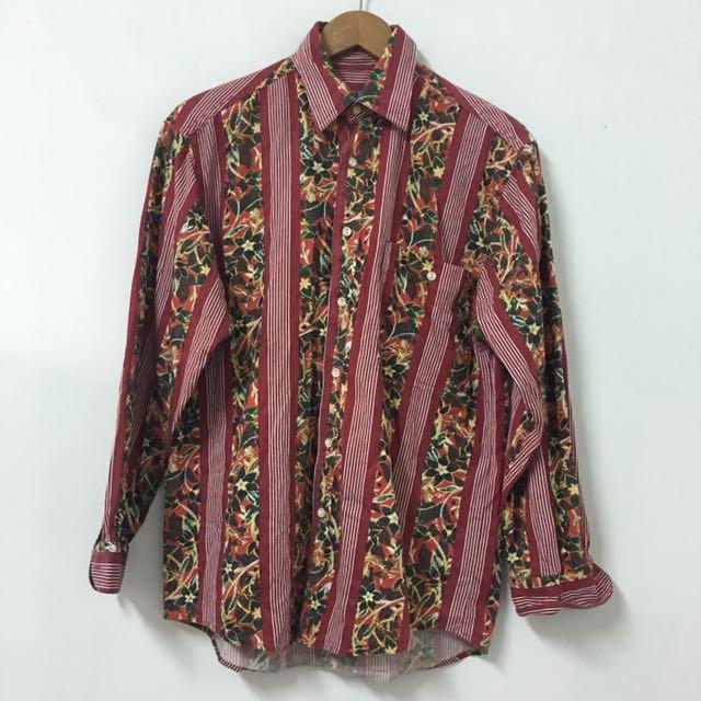 Vintage 古著棉質花襯衫