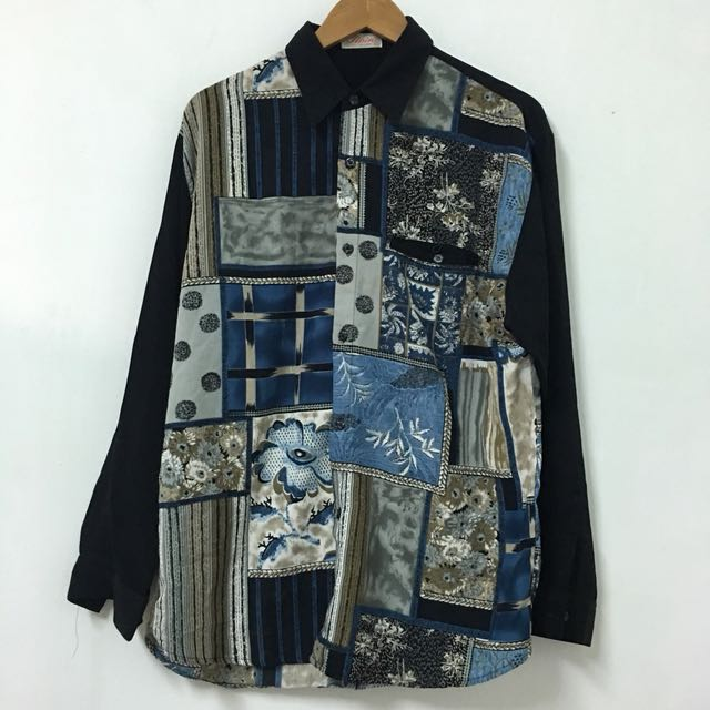Vintage 古著復古雪紡花襯衫