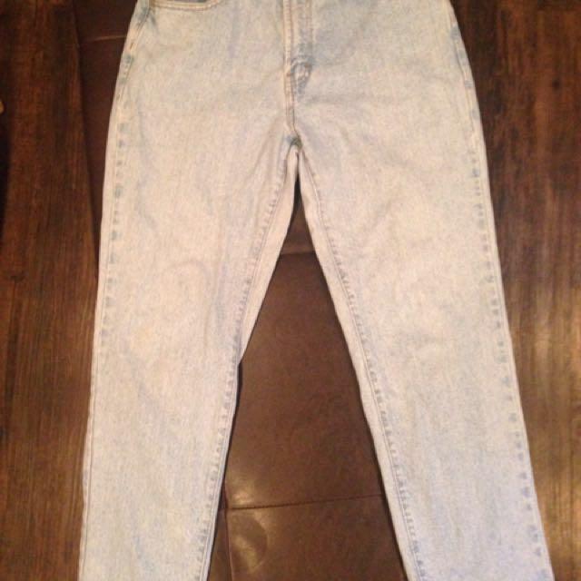 Vintage Retro Mom Jeans - Tommy Hilfiger Light Wash