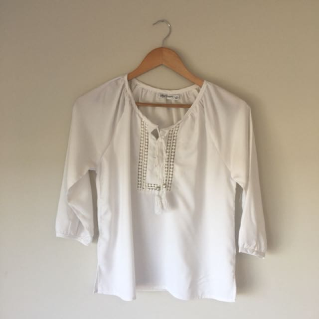 White draw string top