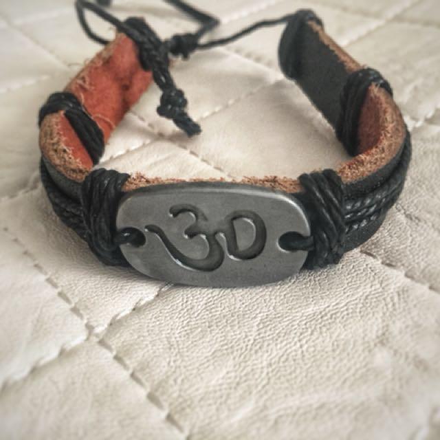 Yoga Leather bracelet