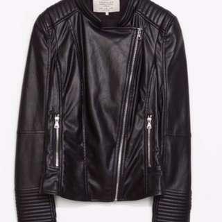 Zara (faux) leather jacket