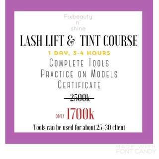 LASHLIFT COURSE