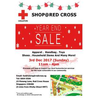 Shop@Red Cross House - Year End Sale