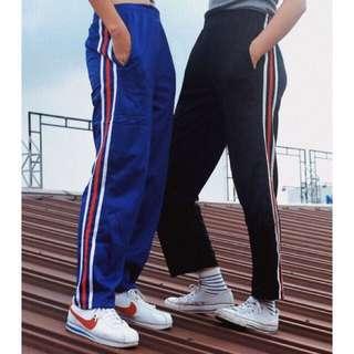 Side stripe pocket track pants