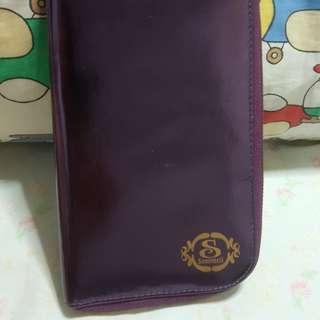 BN metallic purple wallet/clutch/Passport holder