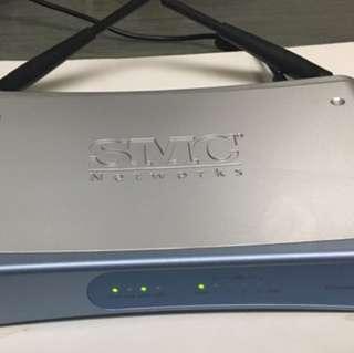 SMC NETWORKS BROADBAND WIRELESS GATEWAY SMC8014W-G (4) PORT (S2)