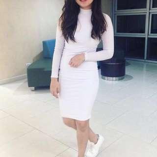 Bodycon White Dress (Lovemitzhi ig)