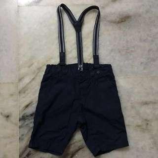 H&M Navy blue suspender pants