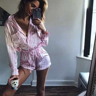Missguided pink striped jammies