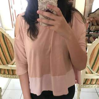 Cotton Ink Pink Brown Top