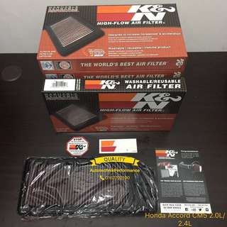 Honda Accord CM5 2.0L/2.4L Original K&N Air Filter