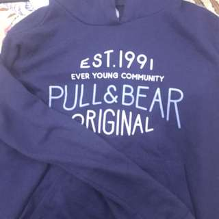 Sweater sweatshirt hoodie pull and bear pull n bear PNB navy size S