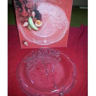 Crystal Platter - Holiday Bells