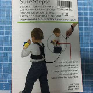 Kids security harness and wrist