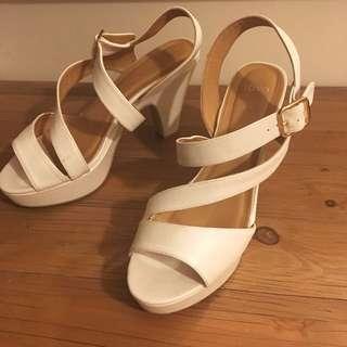 White Novo High Heels #under20