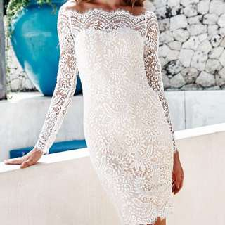 White lace dress from MISSHOLLY