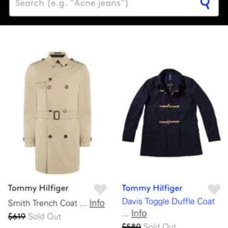 Tommy Hilfiger  duffle coat worth 580