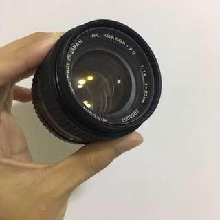 Minolta MC Rokkor PG 50mm F1.4 Lens
